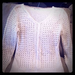 Cotton knitted Sweater with silver specs